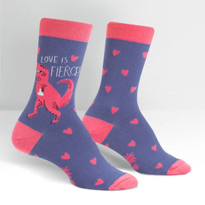 Love Is Fierce T-Rex Women's Crew Socks