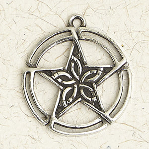 The Pentacle Open Round ~ Pewter Necklace ~ Wicca, The Wiccan Collection