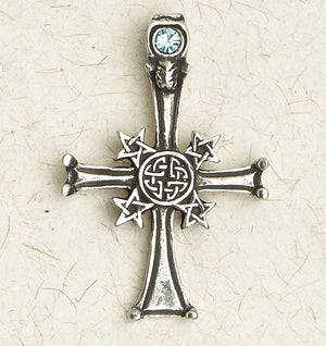 Pentacle Cross ~ Pewter Necklace ~ Wicca, The Wiccan Collection