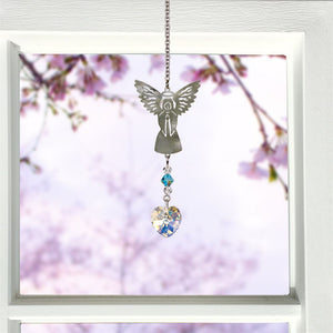March ~ Birthstone Angel Crystal Suncatcher