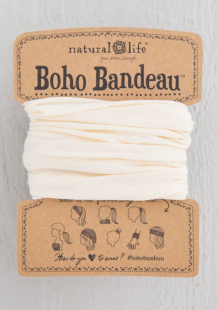 Cream Solid Boho Bandeau