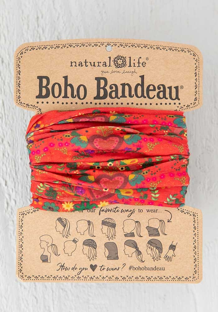 Red Hearts Boho Bandeau