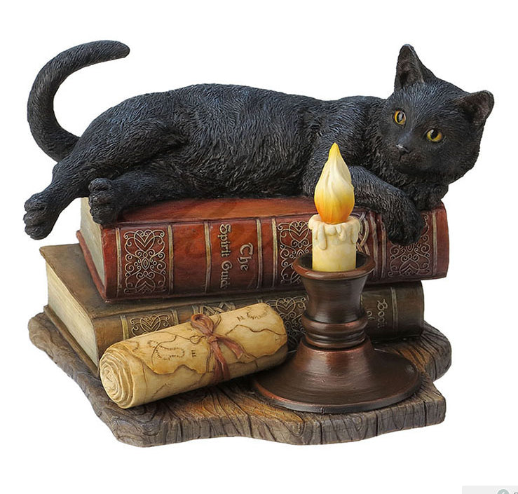 The Witching Hour by Lisa Parker Cat Figurine