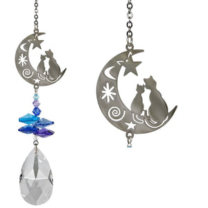 Moon Cats ~ Crystal Fantasy Suncatcher