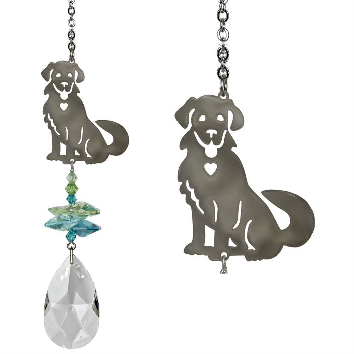 Happy Puppy Dog ~ Crystal Fantasy Suncatcher