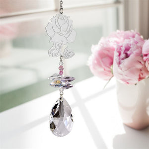 Beautiful Rose ~ Crystal Fantasy Suncatcher