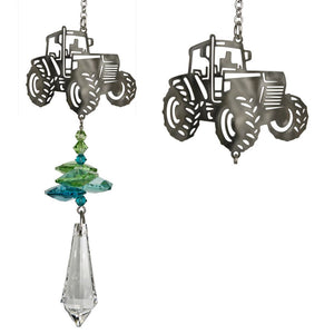 Farm Tractor ~ Crystal Fantasy Suncatcher