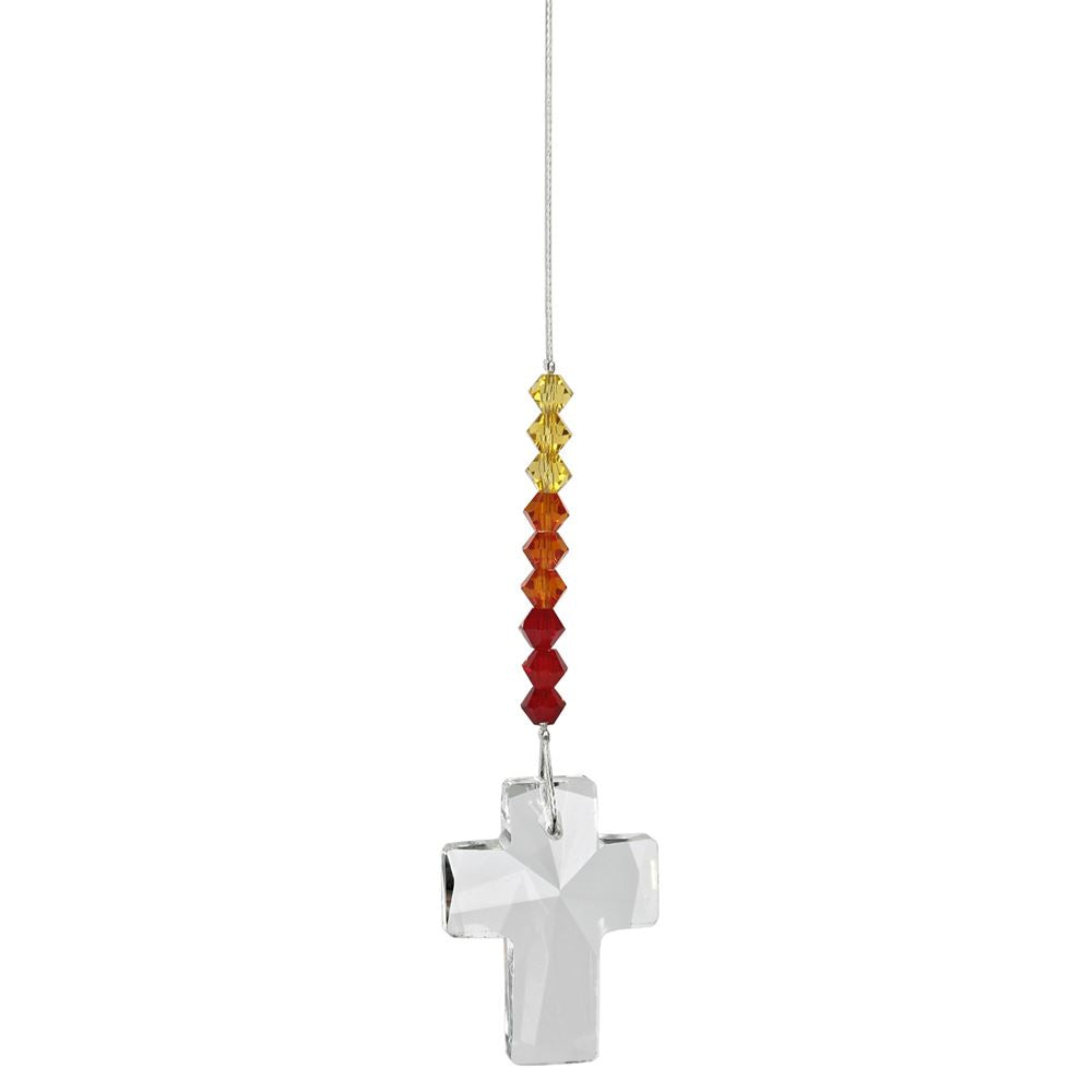 Sunrise Crystal Cross Suncatcher