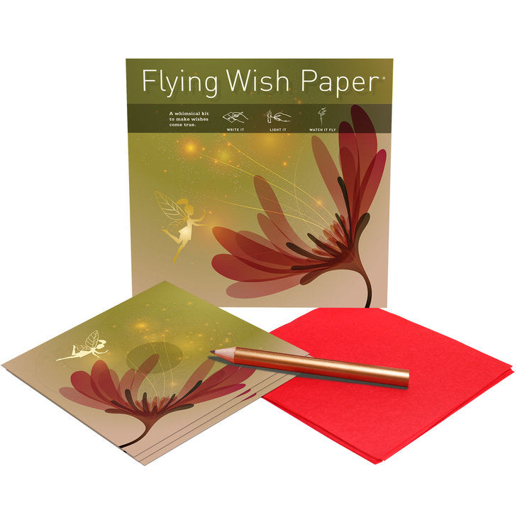 FAIRY GARDEN Mini Flying Wish Paper Kit