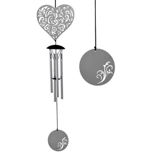 Heart Flourish Wind Chime ~ Woodstock Wind Chimes
