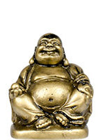 "2"" Gold Buddha Figurines (Safe Travels, Prosperity, Love, Spiritual Journey, Happy Home, and Long Life)"