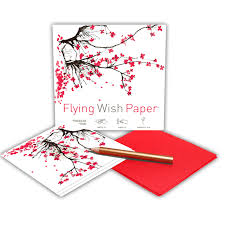 CHERRY BLOSSOMS Mini Flying Wish Paper Kit