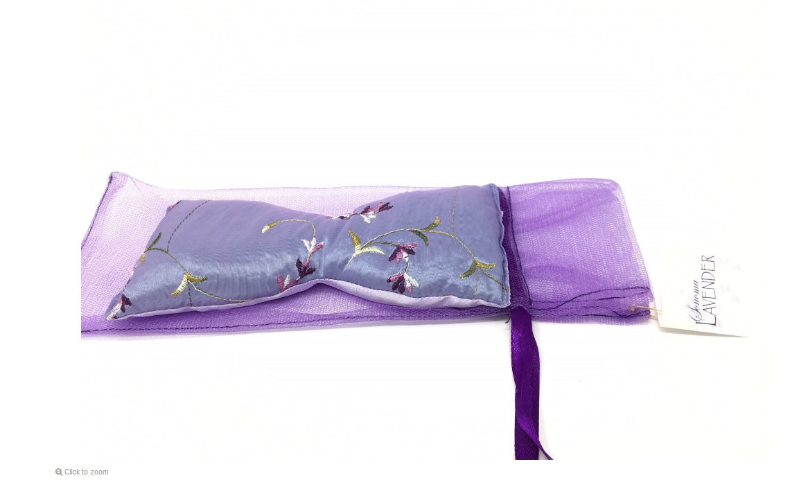 Embroidered Lavender Eye Pillow ~ Sonoma Lavender Luxury Spa Gifts