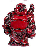 "3"" Redstone Buddha Figurines (Safe Travels, Prosperity, Love, Spiritual Journey, Happy Home, and Long Life)"