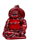 "2"" Redstone Buddha Figurines (Safe Travels, Prosperity, Love, Spiritual Journey, Happy Home, and Long Life)"