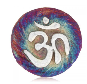 OM Medallion Magnet from Raku Pottery