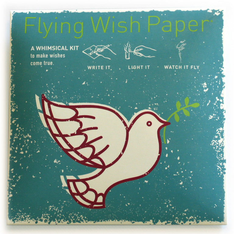 Peace Dove Mini Flying Wish Paper Kit