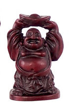 "1"" Redstone Buddha Figurines (Safe Travels, Prosperity, Love, Spiritual Journey, Happy Home, and Long Life)"