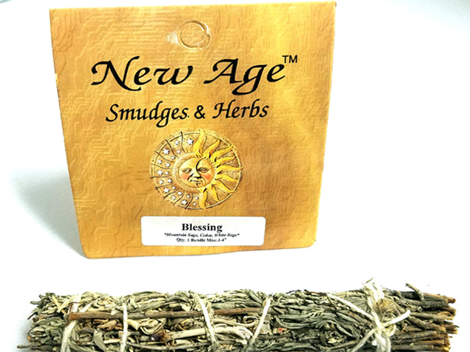 Blessings ~ White Sage, Mountain Sage, & Cedar Sage Bundle ~ Smudge Stick
