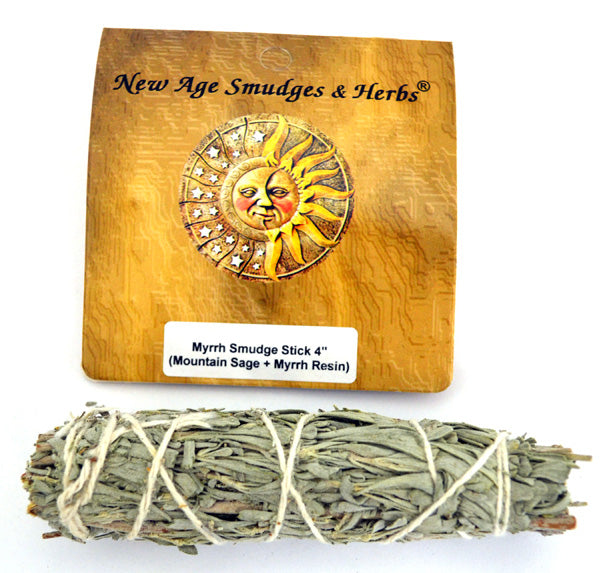 Myrrh (Mountain Sage & Myrrh Resin) Smudge Stick