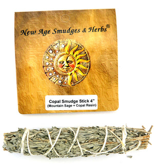 Copal Smudge Stick ~ Mountain Sage & Copal Resin Bundle