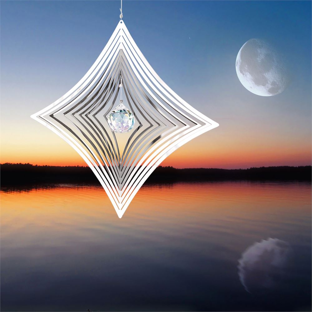 Crystal Parallax Shimmers Metal Suncatcher