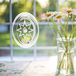 Crystal Star Shimmers Metal Suncatcher