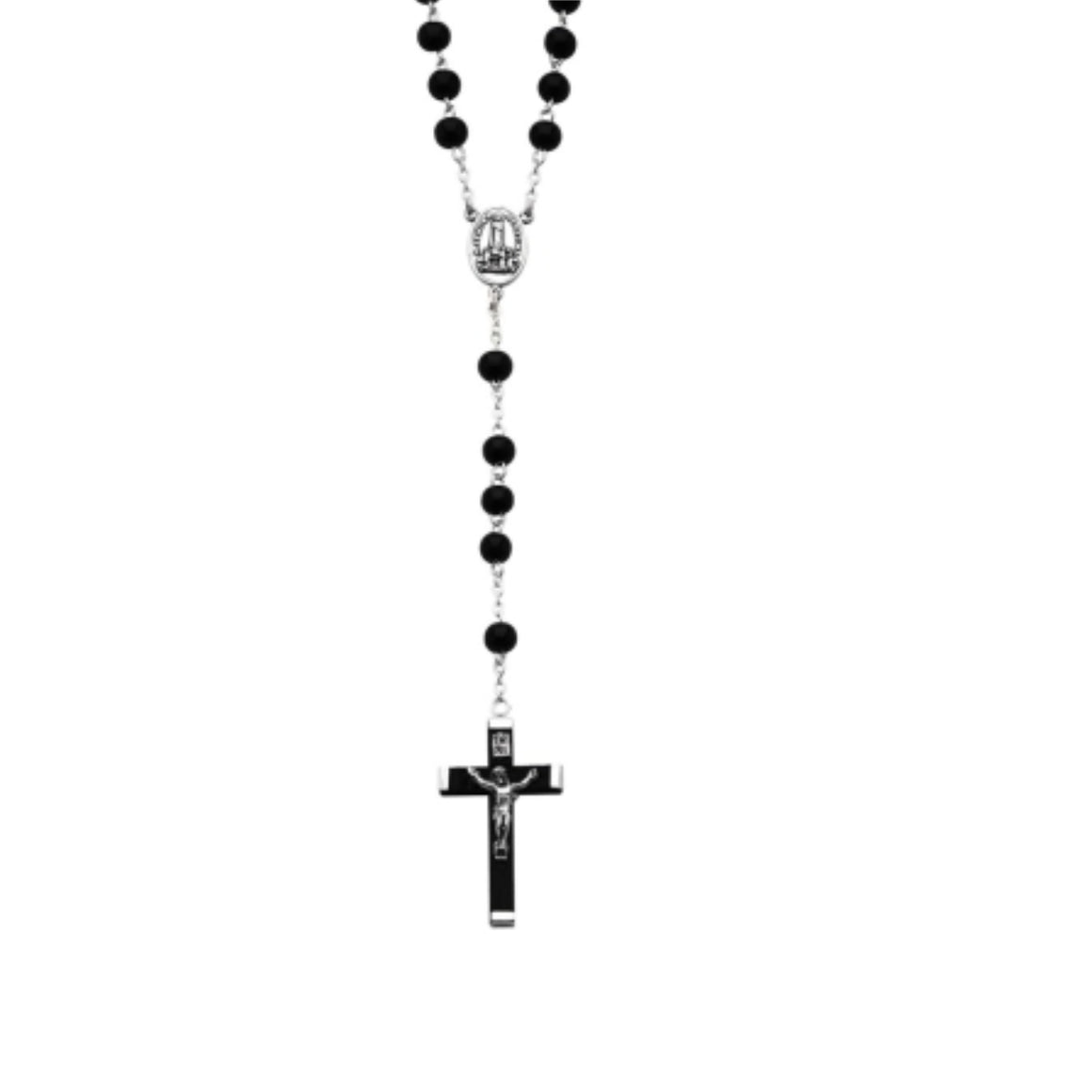 Black Wood Beads Rosary in Gift Box