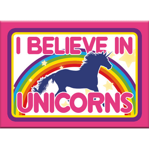 I Believe In Unicorns Flat Magnet