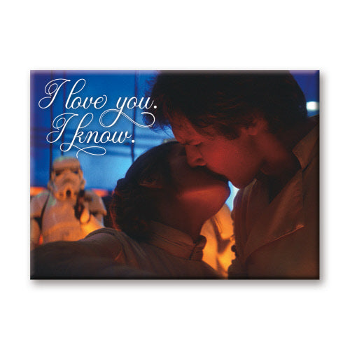 I Love You. I Know Star Wars Flat Magnet
