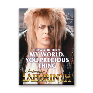 How You Turn My World You Precious Thing Labyrinth Flat Magnet