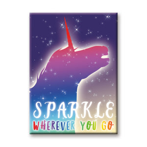 Sparkle Wherever You Go Unicorn Flat Magnet