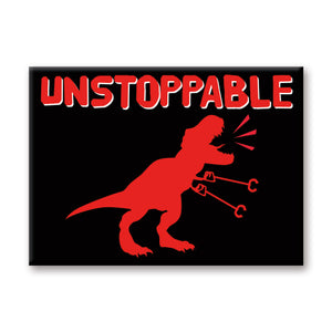 Unstoppable T-Rex Flat Magnet