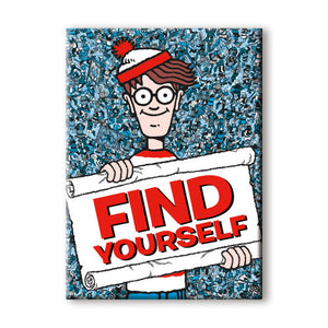 Find Yourself Waldo Flat Magnet