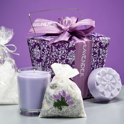 Lavender Gift Box Set (Take-Out Box) ~ Sonoma Lavender Luxury Spa Gifts