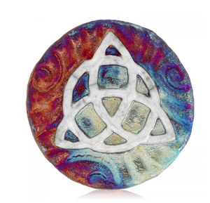 Celtic Trinity Medallion Magnet from Raku Pottery