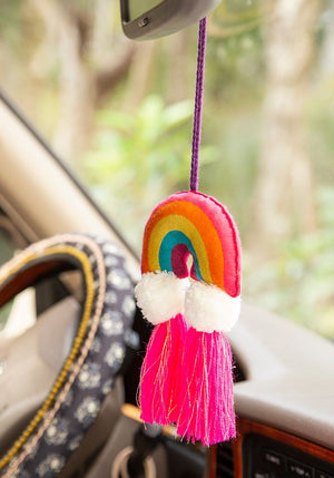 Rainbow Tassel Tie-On