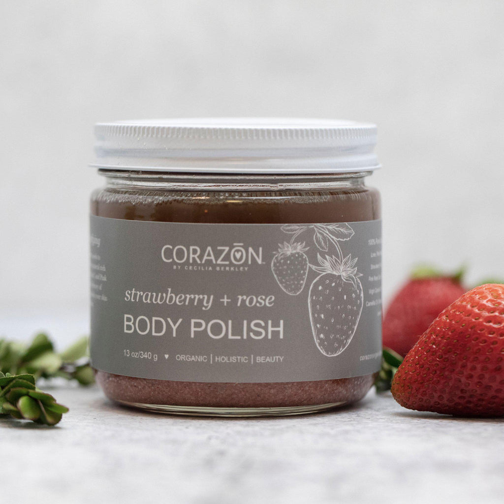 BODY POLISH Strawberry + Rose