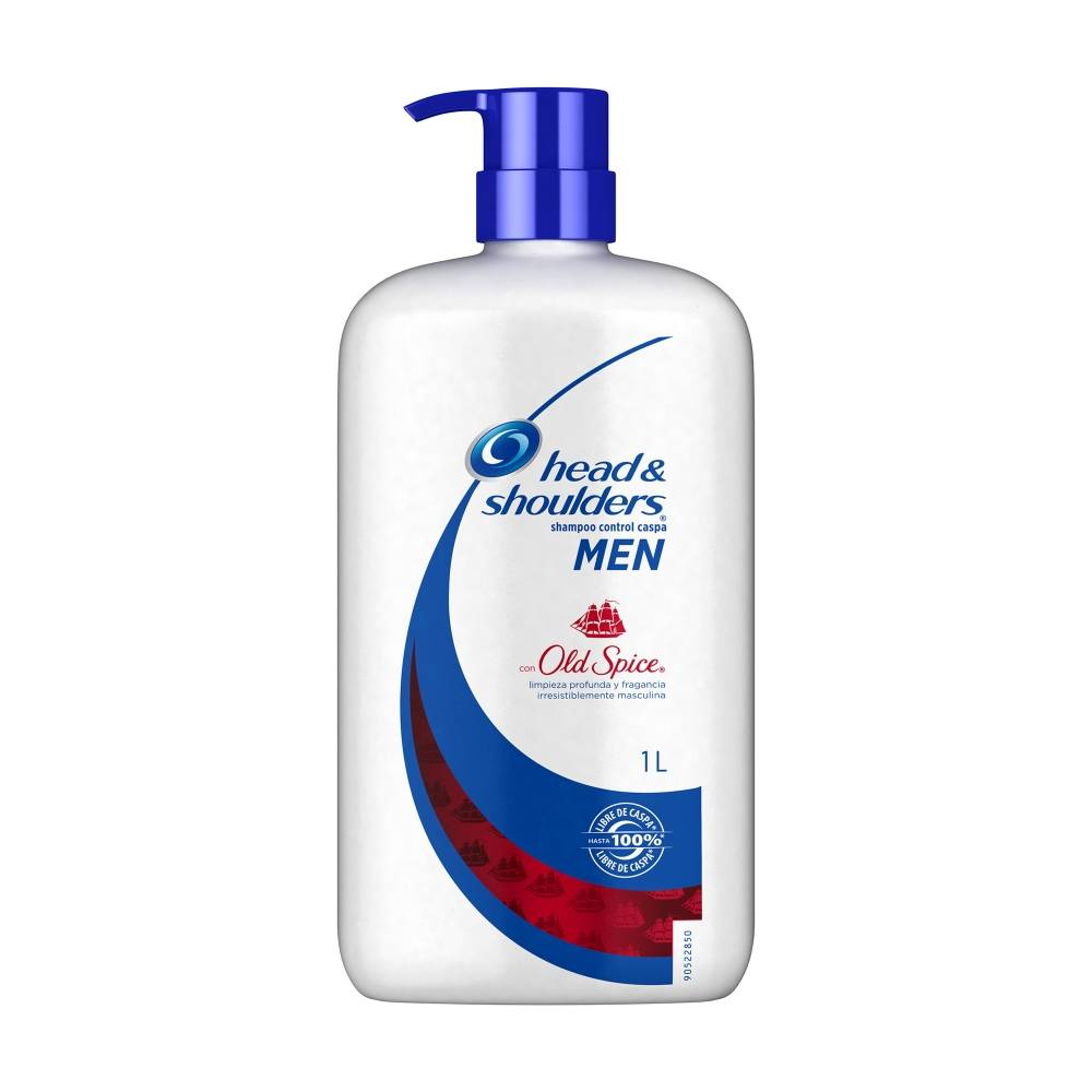 Shampoo Head & Shoulders Men con Fragancia Old Spice 1L - ZK