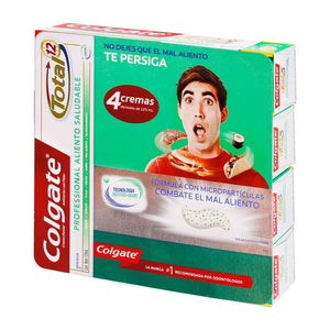 Crema Dental Anticaries Colgate Total 12 Professional Whitening Flúor 4P/125M - ZK
