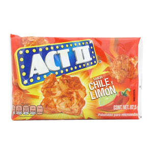Exhibidor Palomitas ACT ll Chile Limon 87.5G/15P