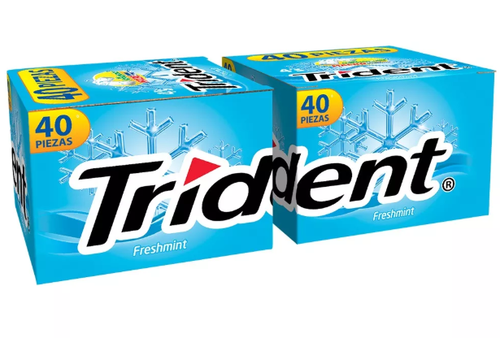 Media Caja Chicle Trident Menta 4 S 20C/40P
