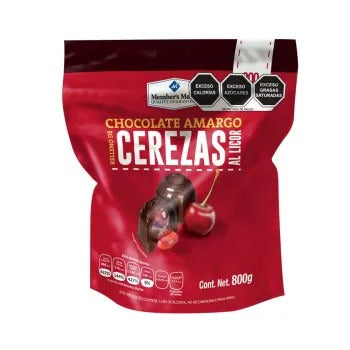 Chocolate Amargo Member's Mark Relleno de Cerezas al Licor 800G - ZK