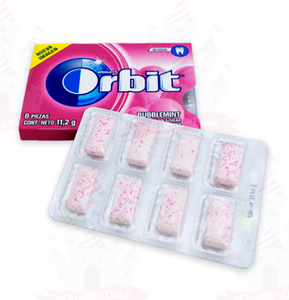Caja Chicle Orbit 8S Frutas 24C/12P