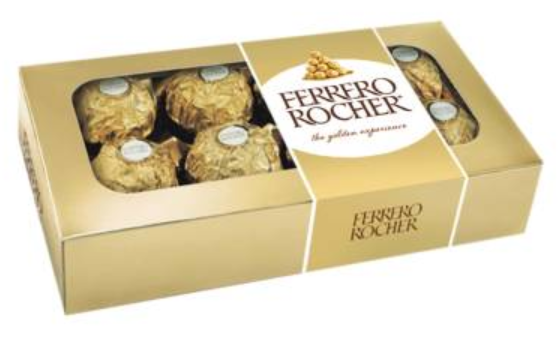 Media Caja Chocolates Ferrero Rocher 102G/10EX/8P