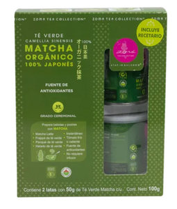 Te Matcha Organico 50 g Zoma Tea Collection 2P - KOZ
