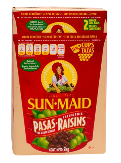 Pasas de california 100% natural Sun Maid 2K - KOZ