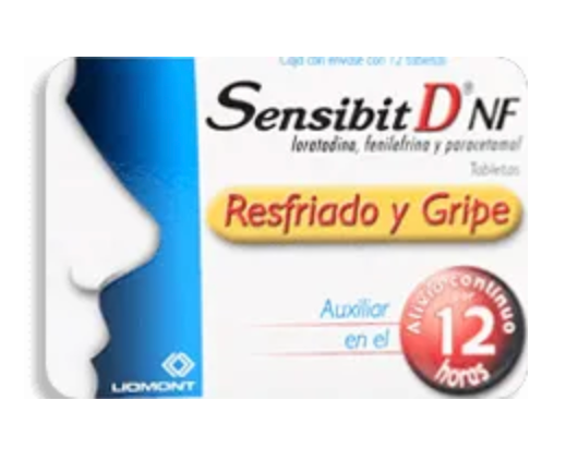 Sensibit-D 12 Tabletas (2.5 mg/5 mg/ 500 mg) - KOZ