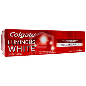 Caja Pasta Dental Colgate Luminous White 75M/48P