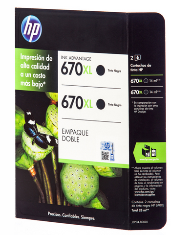 HP 670XL cartucho de tinta negro - HP KZ
